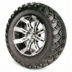 "Set of (4) 12"" GTW Tempest Wheels on All-Terrain Tires"