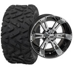 "Set of (4) 12"" GTW Yellow Jacket Wheels on Mud Tires"