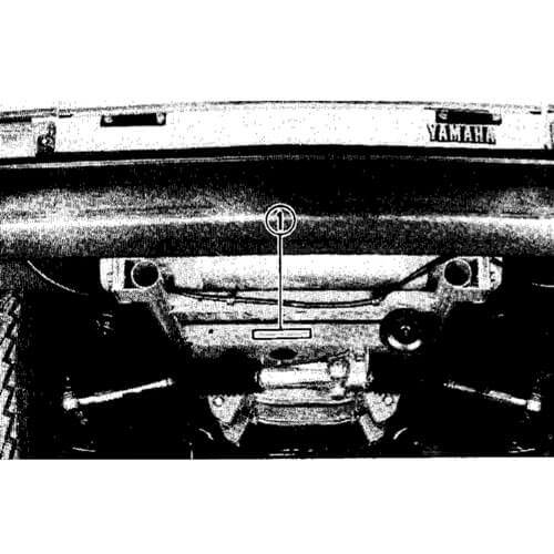 The serial number is located under the front of the cart stamped onto the front axle
