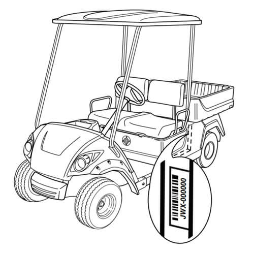 Parts Diagram Yamaha Golf Cart Serial Number Location Yamaha Golf